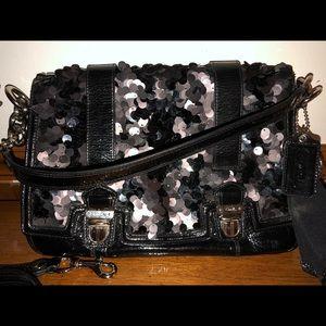 COACH - Poppy black sequined purse